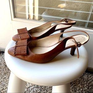 Ladies slingback heels shoes